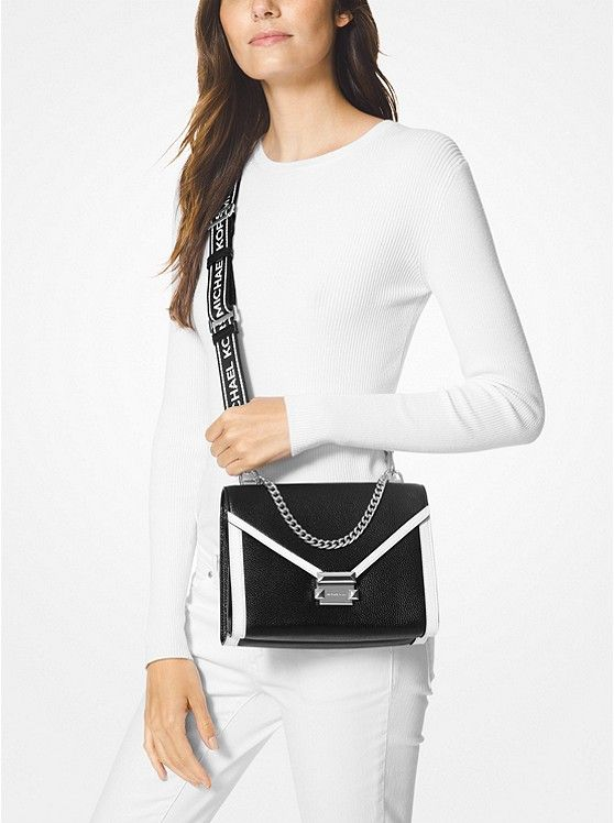 f63772b7b70e7d Whitney Large Pebbled Leather Convertible Shoulder Bag | Michael ...