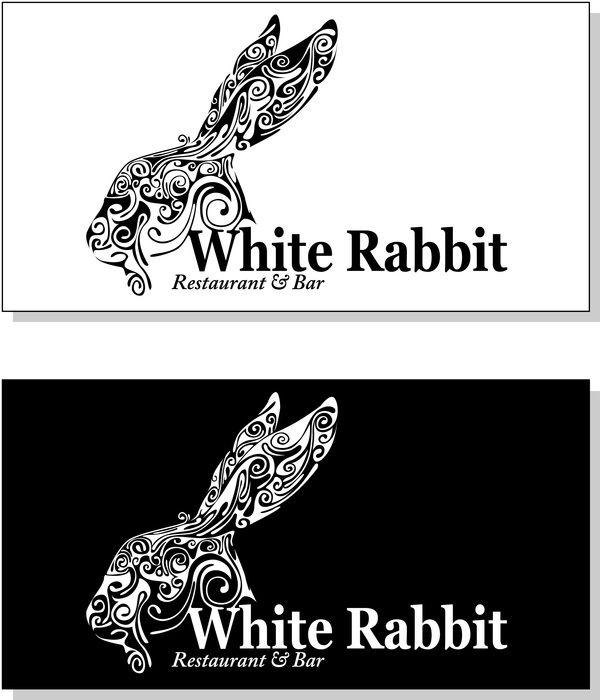 "Logo White Rabbit ""restaurant & bar"" by Juan Carlos Andrades, via Behance"