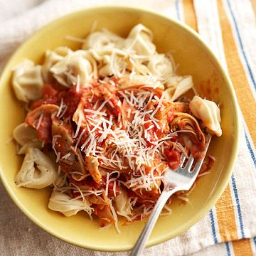 Garlic-Artichoke Pasta - Click on the underlined link to the right of the page to get to the crock pot recipe