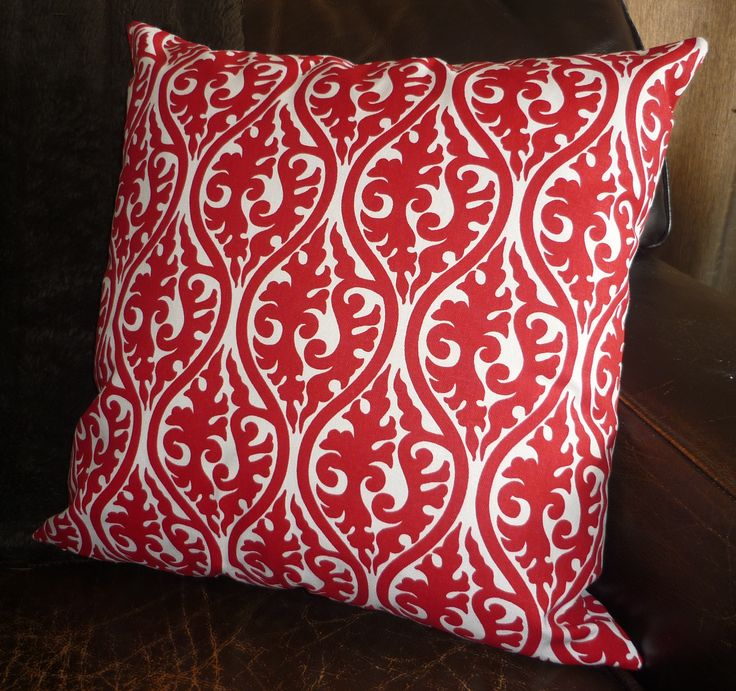 Red & white cushion cover