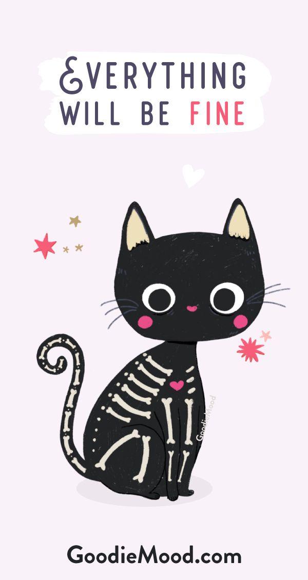 Goodie Mood Fond Ecran Iphone Fond Ecran Halloween Petit Chat