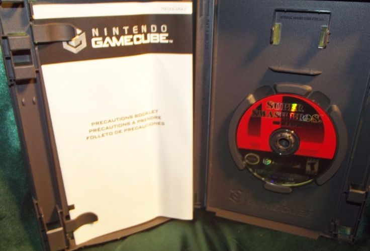 #Nintendo Super Smash Bros #Gamecube Video #Game 2001 Booklet No Artwork
