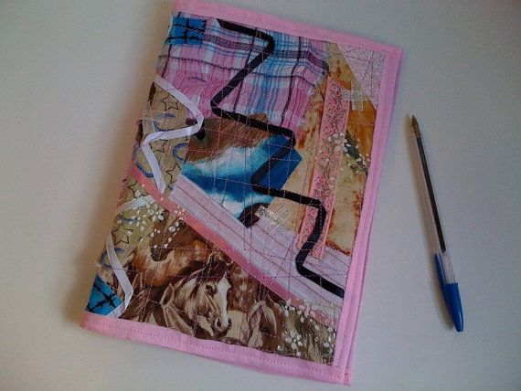 """Pink Horse Crazy Journal Cover by StarBoundWestern on Etsy,   fits 6""""x9"""" coil notebook, Bible or favorite book.  $25.00"""