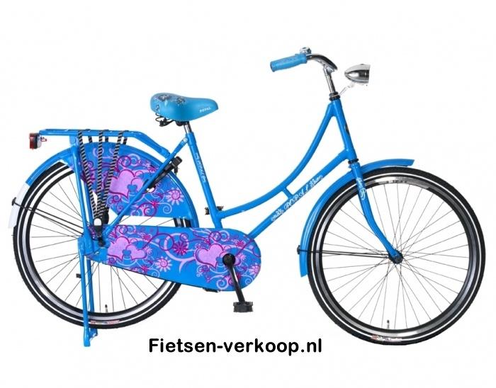 Omafiets Blauw 26 Inch | bestel gemakkelijk online op Fietsen-verkoop.nl