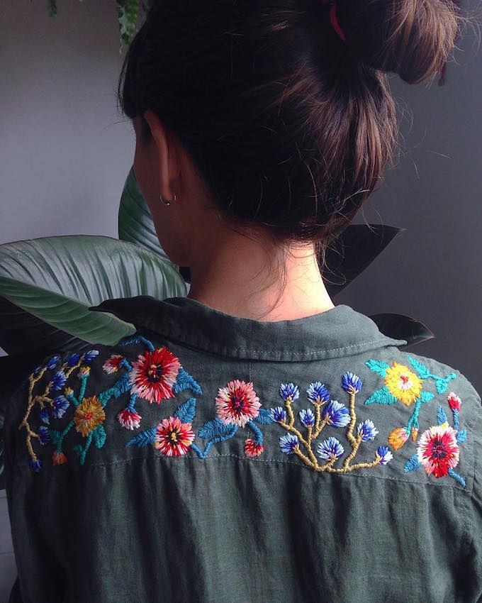 Love this look  Embroidery by Trini Guzmán