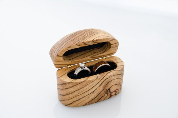Zebrawood Wooden Wedding Ring Bearer Box - Not only good for the ceremony, but every day after!