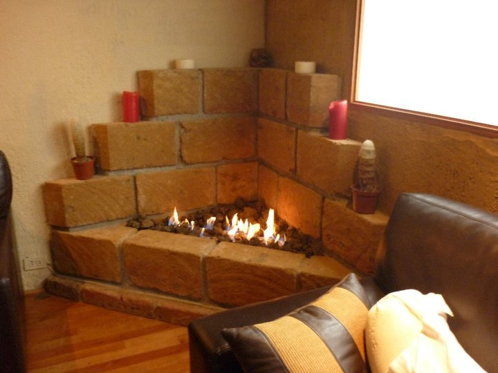 17 best images about chimeneas on pinterest mantels mantles and paint - Chimenea ladrillo ...