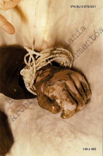 Hand of Father Jerzy Popieluszko.