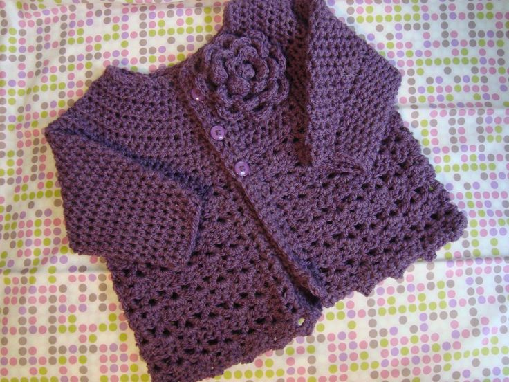 Crochet Baby Sweater : Crochet Baby Sweater in Soft Yarn and Vibrant Colours Crochet baby ...