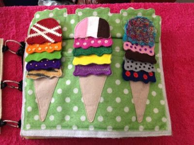 Faith and Felt Obsession: Tahlia's Quiet Book - Ice-cream Page
