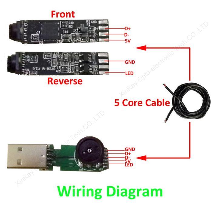 2 0mp full hd usb mini endoscope module for diy inspection