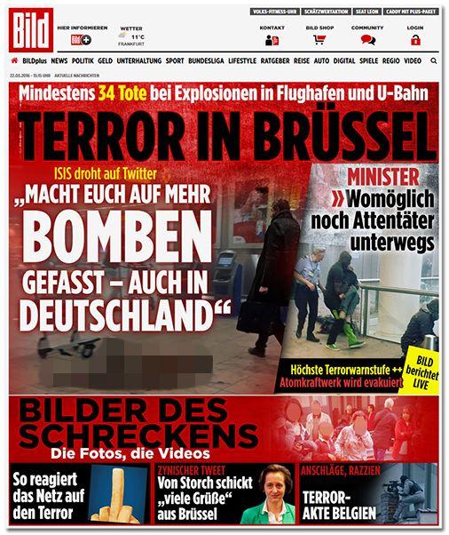 BELEITMATERIAL MM15 Content 1: BILDblog | 23.03.2016 | Die Anschläge von Brüssel im Breaking-News-Modus