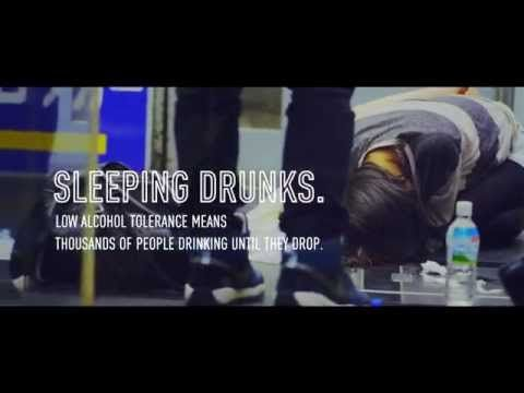 """Drunk People Passed Out in Japan Get Turned Into Billboards While They Sleep. Ogilvy  Mather and Geometry Global, and bar chain Yaocho bring us this glimpse of Japan where lots of people drink till they drop, and sleep on the street. To curb this trend, the slumped-over drunks are made into billboards and adorned with the hashtag #NOMISUGI, which translates to """"too drunk."""" Instagram users all over Japan have been capturing these impromptu ads, in an effort to shame people into behaving…"""