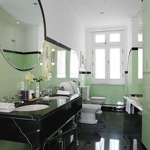 Bathroom Art Nouveau: 238 Best Images About Art Deco Interiors On Pinterest