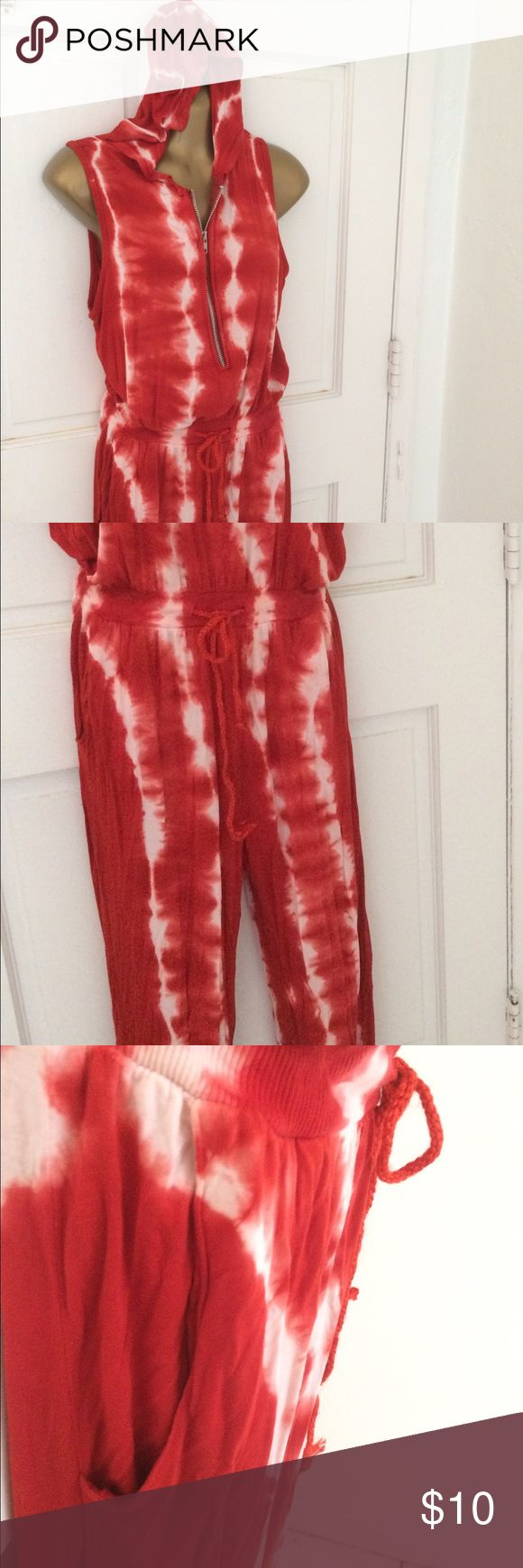 Tie-died Jumpsuit . long pant jumpsuit. Front zipper and gathers at waist and ankle. Fun to wear. Get your hippie on. Great for reggae concerts 🎤 Nolita NYC Pants Jumpsuits & Rompers