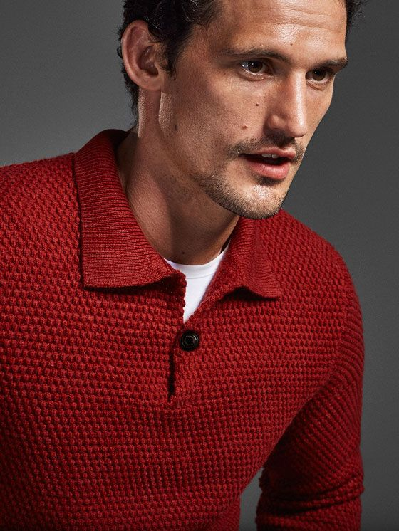 LIMITED EDITION TEXTURED WEAVE POLO STYLE SWEATER