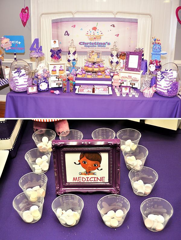 A Pink and Purple Doc Mcstuffins #Disney Party Ideas - WOW!