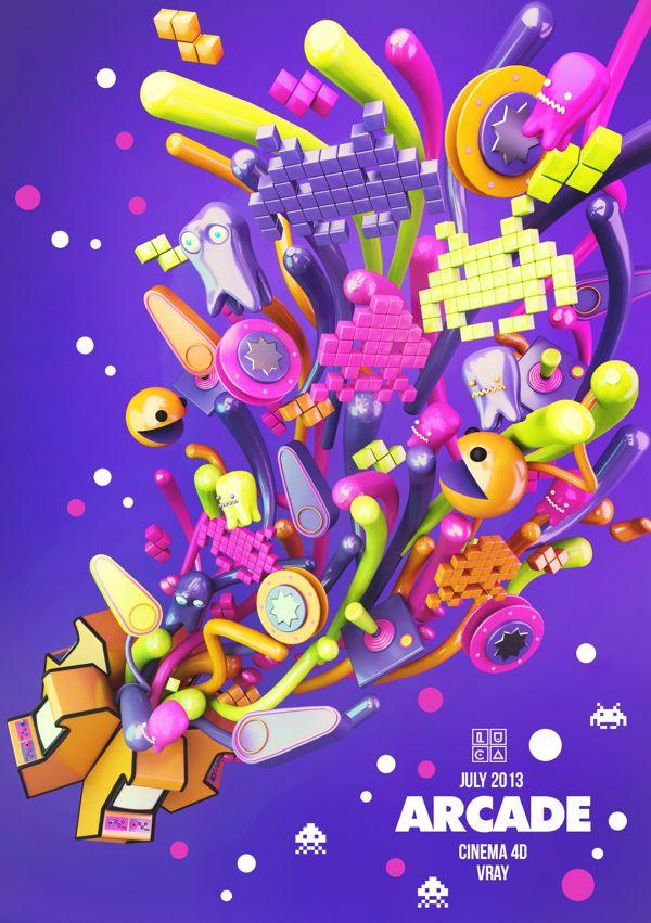 ARCADE by Luca Viola, via Behance  #C4D, #Cinema4D,#3D