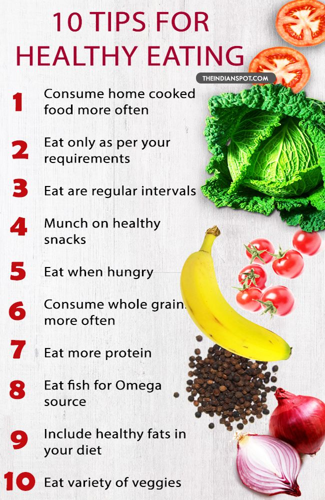 TEN THINGS TO KNOW ABOUT HEALTHY EATING Healthy eating