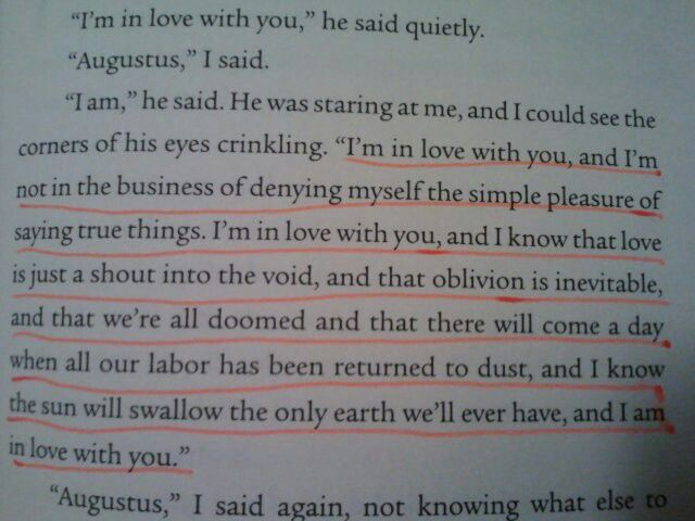 The fault in our stars quote :)