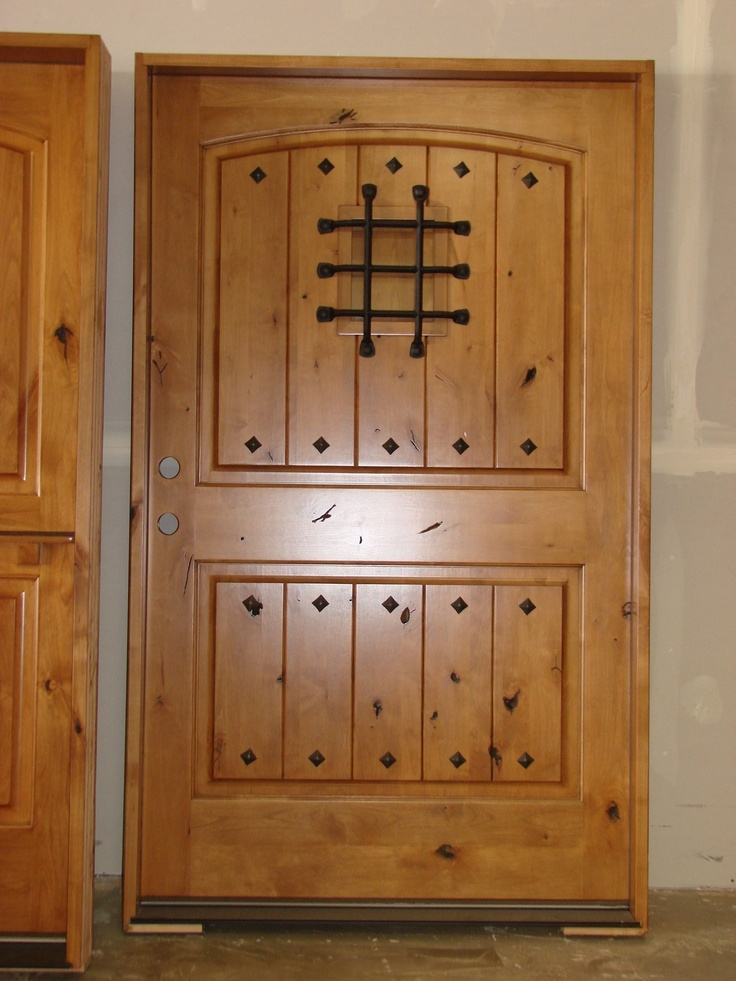"Entry Front Doors: Exterior Knotty Alder Rustic Front Entry Doors 48"" X 80"