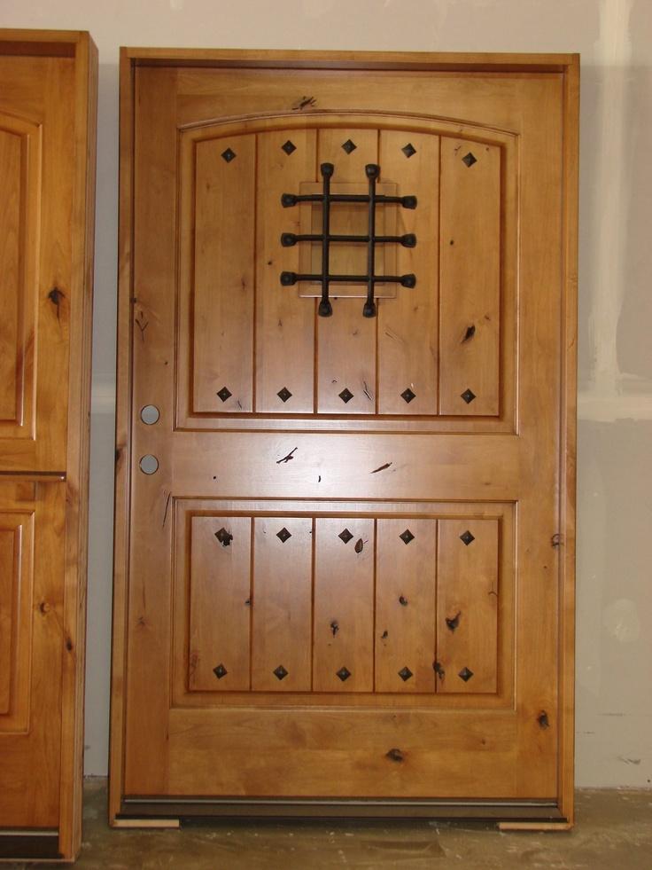 Exterior Knotty Alder Rustic Front Entry Doors 48 Quot X 80