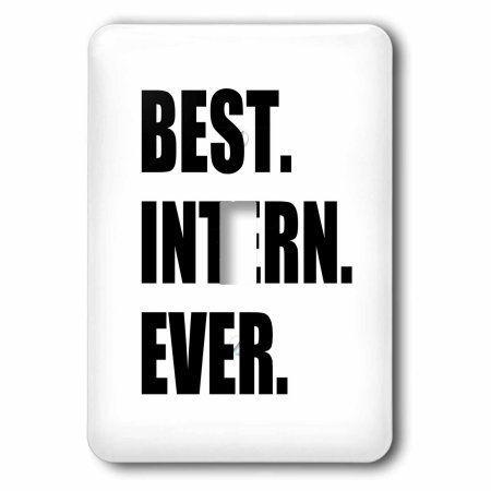 3dRose Best Intern Ever - fun appreciation gift for internship job - funny, Single Toggle Switch