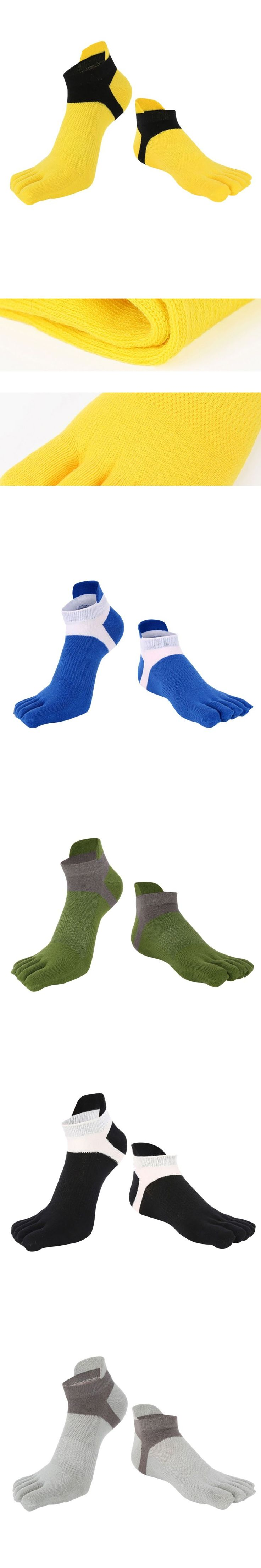 Five Finger Toe Socks For Men's Cotton  Deportes Short Tube Mesh Finger Meias Polyester Sock Correr Elasticity Sock