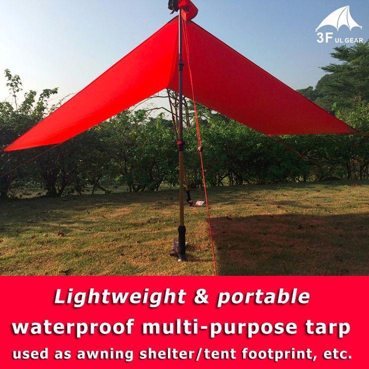 3F UL Gear Lightweight Outdoor Waterproof Tarp Awning Sun Shelter Mat Tent Footprint Multi-purpose Reinforced 20D Nylon Silicone