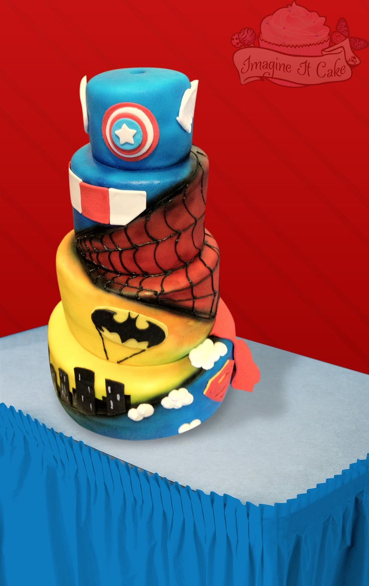 Unique Super Hero Cake - www.imagineitcake.com