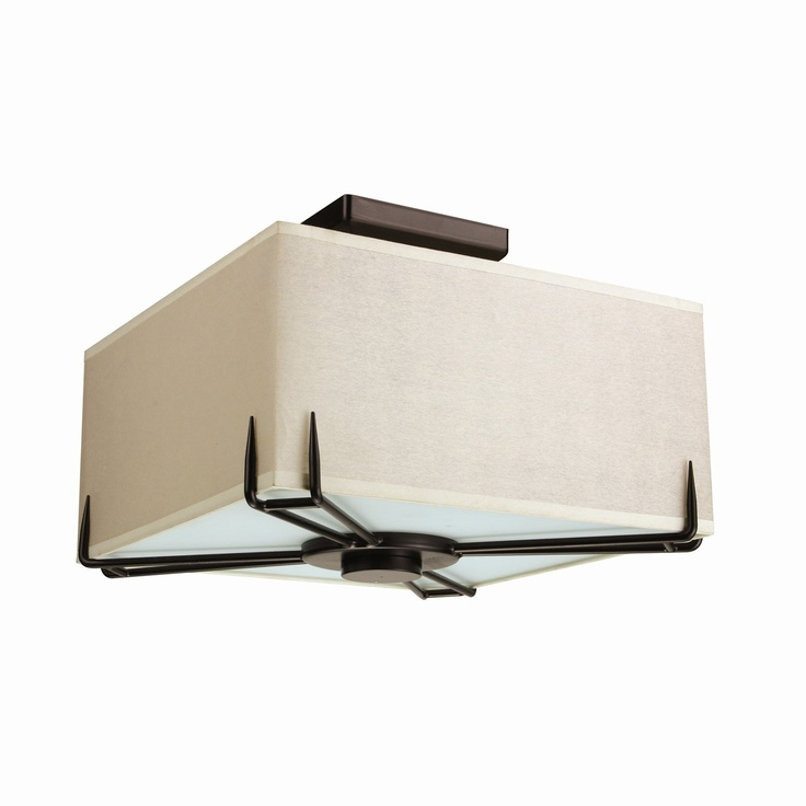 DVI DVP9128 2 Light Geometry Square Semi Flush Ceiling Light - Lowes Canada