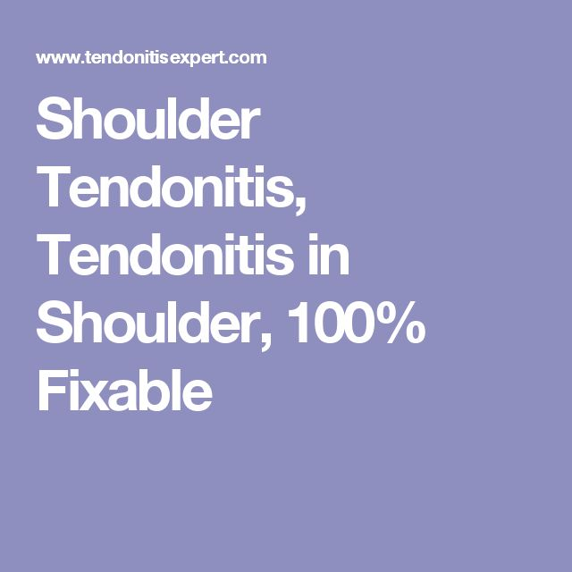 Shoulder Tendonitis, Tendonitis in Shoulder, 100% Fixable