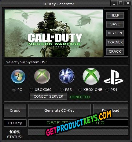 Call of Duty 4 Remastered CD Key Generator