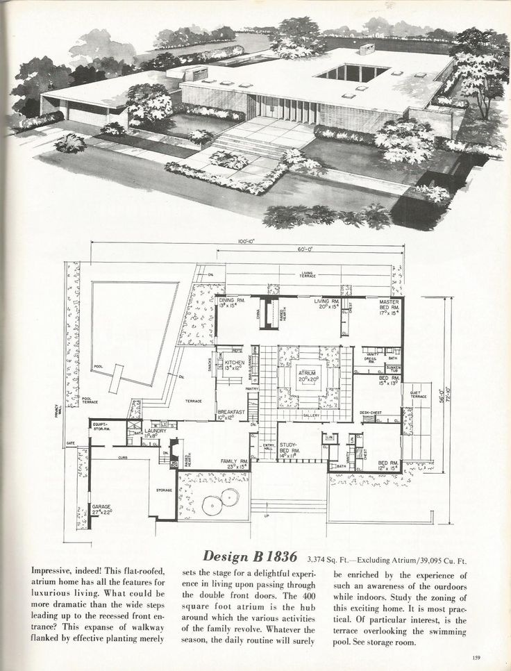 20 best mcm house plans images on pinterest vintage house plans