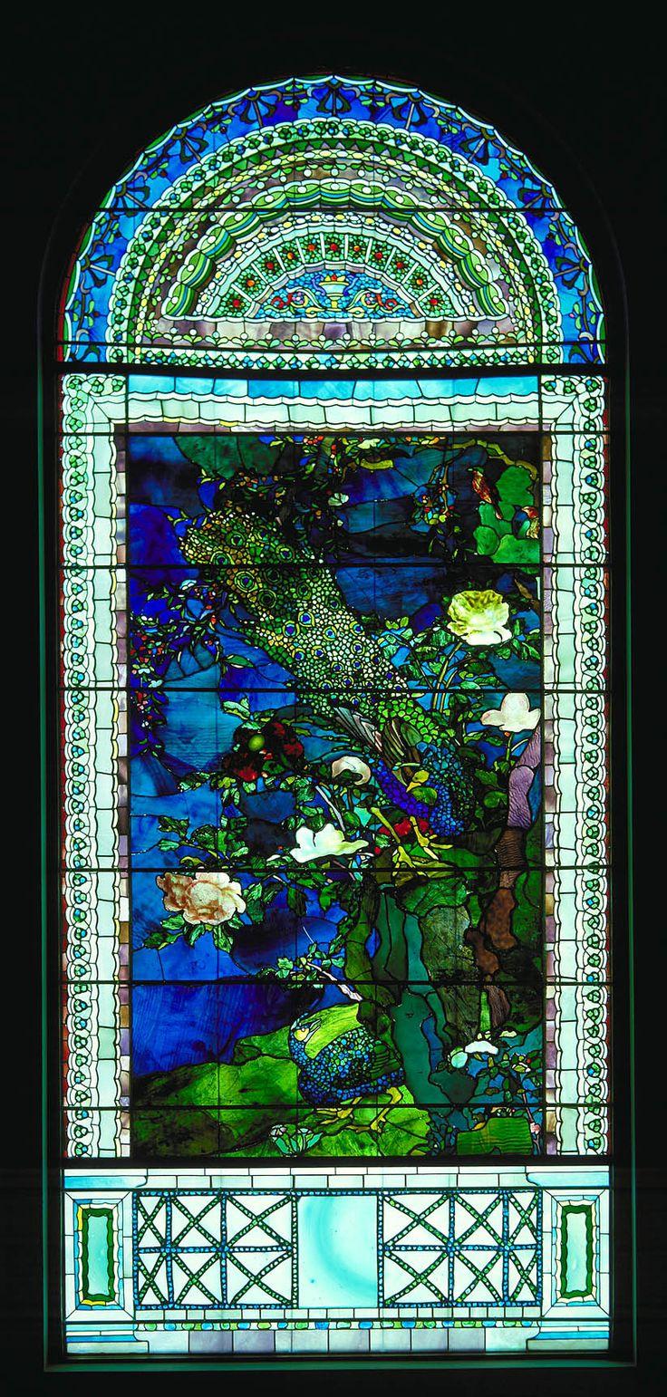 John La Farge, Peacocks and Peonies, Smithsonian American Art Museum. stained-glass windows.