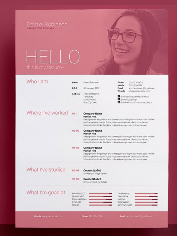 22 best floral cv template images on pinterest cv template