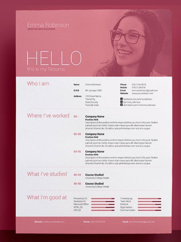 The 12 best mark images on Pinterest Resume design, Resume