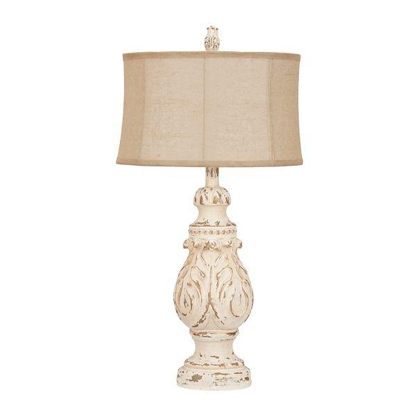 Caroline Distressed Cream Table Lamp Kirklands Cream Table Lamps Table Lamp Farmhouse Lamps