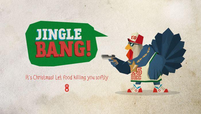 #Christmas #cards #2013 #Design #Graphic #Food #turkey #happychristmas