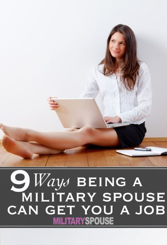 Being a military spouse CAN help you get a job!