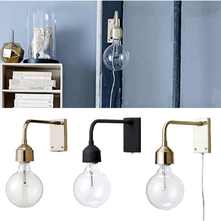 Design Belysning AS - Bloomingville Vegg Metall Gull/Sort/Kobber - Vegglampe - Innebelysning