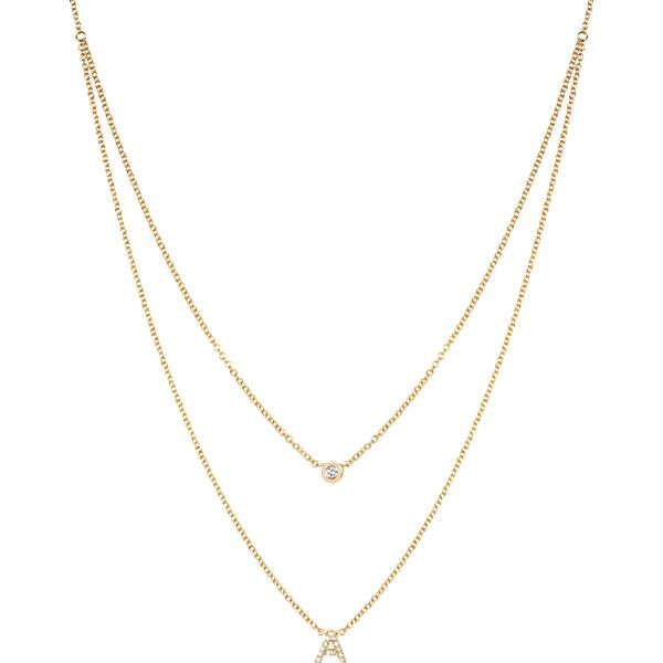 Ef Collection Diamond Initial Choker Necklace (13.541.595 VND) ❤ liked on Polyvore featuring jewelry, necklaces, diamond necklace, choker necklaces, diamond choker, initial choker necklace and 14k jewelry