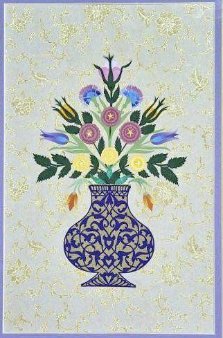 Vazoda Çiçekler (katı', kâğıt oyma) Dürdane Ünver