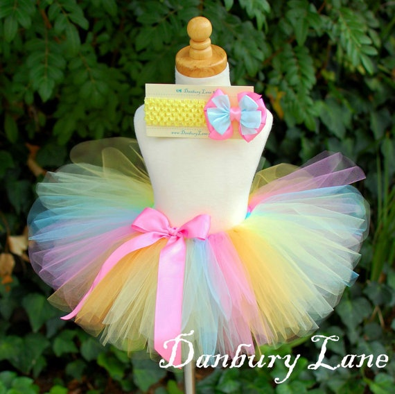 Baby Easter Tutu only 1st Birthday girl skirt and by DanburyLane, $23.95