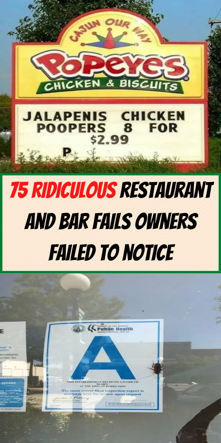 75 ridiculously obvious restaurant and bar fails that