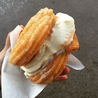 This is not your basic ice cream sandwich.   Churro Ice Cream Sandwiches Are The Most Delicious Thing You Need In Your Life