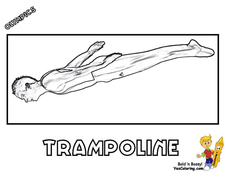 trampoline coloring page - 17 best images about free olympics coloring pages on