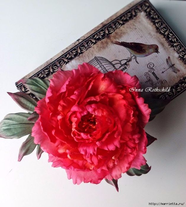 Цветы из шелка от Inna Rothschild (9) (628x700, 292Kb)