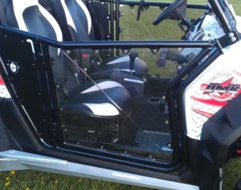 You already know that Pro Armor makes the best doors in the business for your Polaris RZR, RZR S or Polaris RZR XP 900. Well...Extreme Metal Products has made a great door even better by making available these Clear Hard Coat Polycarbonate replacement door skins.