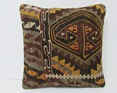 kilim pillow cotton cushion cover 16x16 kilim pillow bench pillow case rustic pillow cover shabby chic decor floor pillow case rustic 25056